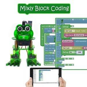 Kit Robot Grenouille 4-DOF avec programmation graphique et contrôle via IOS et Android