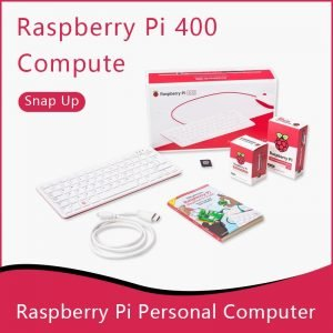 Kit Raspberry Pi 400 - Ordinateur personnel avec 4 Go de RAM WiFi double sortie 4K