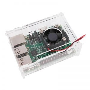 Boitier Transparent avec Ventilateur pour Raspberry PI B+