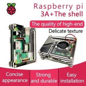 Boîtier Raspberry Pi 3 Modèle A+ avec ventilateur