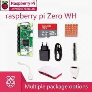 Kit Raspberry Pi zéro WH 1GHz 512 Mo de RAM 2.4G WiFi Bluetooth 4.1